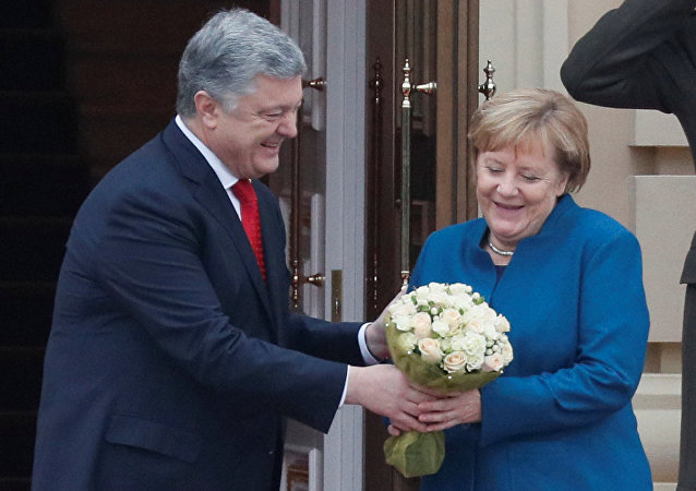 Petro Poroşenko-Angela Merkel