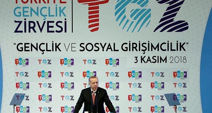 Erdoğan Türkiye Gençlik Zirvesi'nde