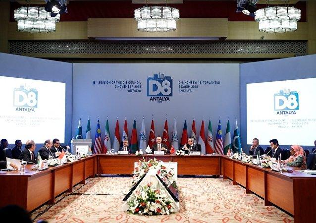 Çavuşoğlu'nun evsahipliğinde Antalya Belek'teki D-8 toplantısı