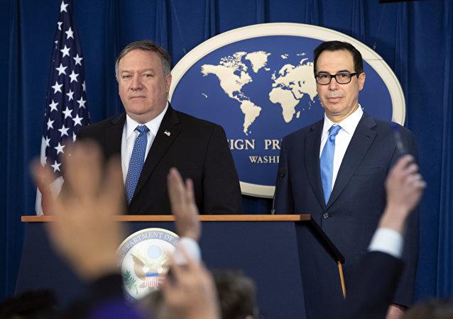 ABD Dışişleri Bakanı Mike Pompeo, ABD Hazine Bakanı Steven Mnuchin