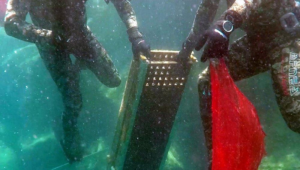 Denizden küvet de çıktı, televizyon da