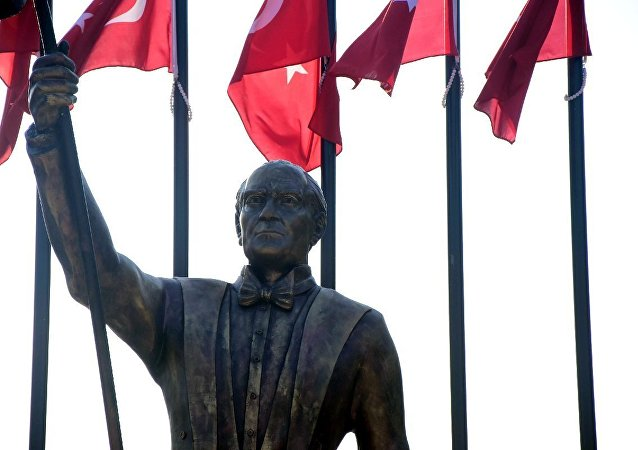 İzmir'deki Atatürk heykeli