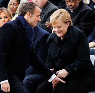 Angela Merkel - Emmanuel Macron
