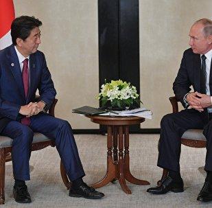 Japonya Başbakanı Şinzo Abe-Rusya Devlet Başkanı Vladimir Putin