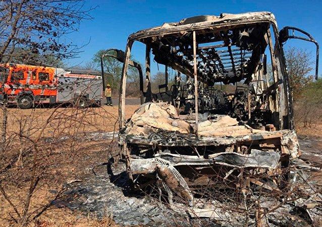 Zimbabve'de yolcu otobüsünde patlama: 42 ölü