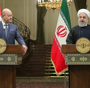 Irak Cumhurbaşkanı Berhem Salih, İran Cumhurbaşkanı Hasan Ruhani