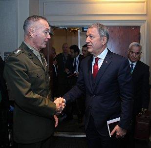 Milli Savunma Bakanı Hulusi Akar- ABD Genelkurmay Başkanı Orgeneral Joseph Dunford