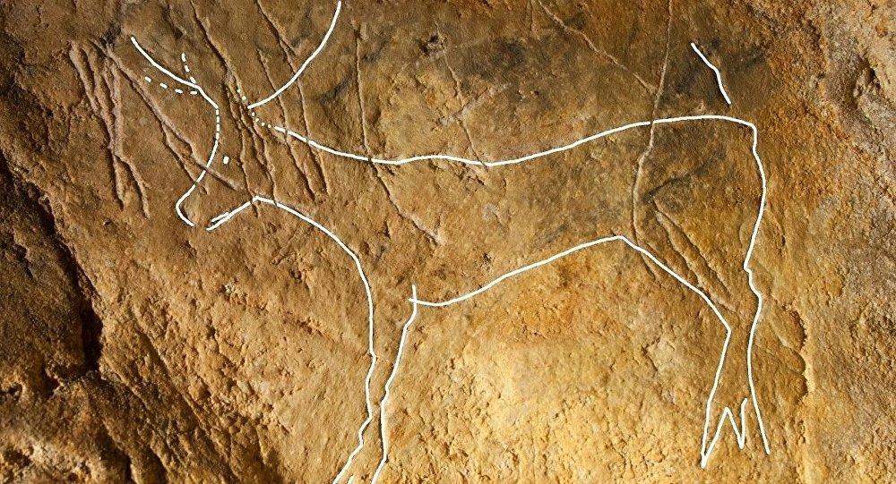 Buzul Çağı'ndan kalma mağarada 12 bin yıllık duvar resimleri bulundu