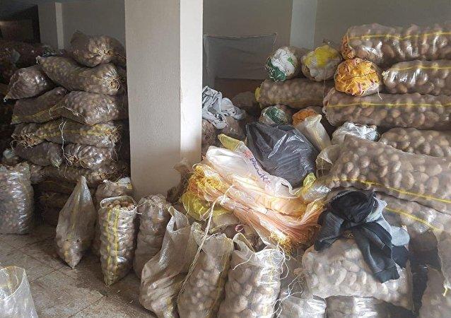 Stokçuluğun önlemesi amacıyla yapılan denetimlerde istiflenen 35 ton patates