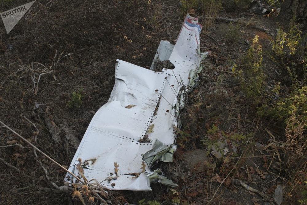 Su-24 uçağının pilotu Peşkov'un oldürüldüğü yerden fotoğraflar