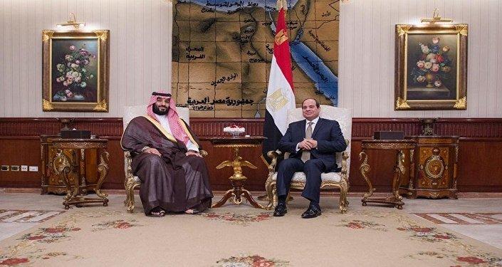 Suudi Arabistan Veliaht Prensi Muhammed bin Selman ile Mısır Cumhurbaşkanı Abdulfettah el Sisi