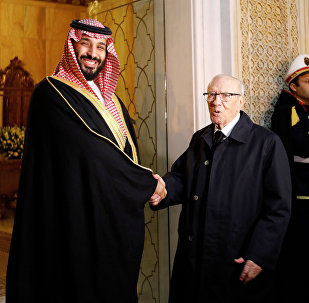 Tunus Cumhurbaşkanı El-Baci Kaid es-Sibsi ile Suudi Arabistan Veliaht Prensi Muhammed bin Selman