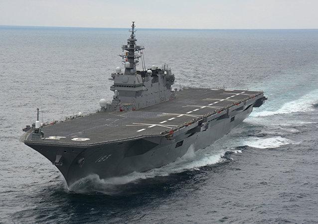 Japonya'nın Izumo sınıfı helikopter gemisi