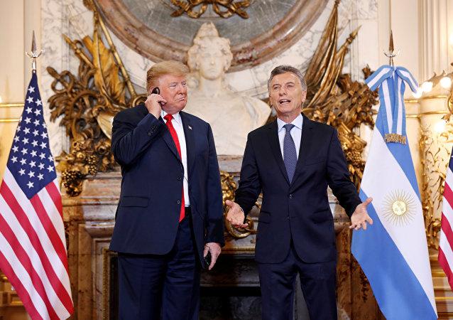 ABD Başkanı Donald Trump-Arjantin Devlet Başkanı Mauricio Macri