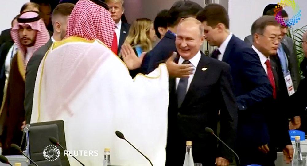 Suudi Arabistan Veliaht Prensi Muhammed Bin Selman-Rusya Devlet Başkanı Vladimir Putin