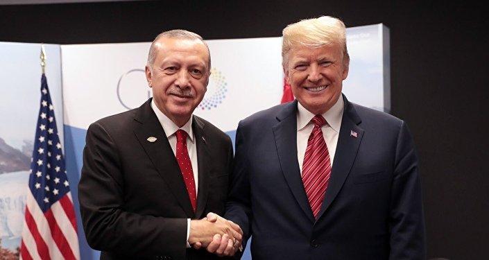 Türkiye Cumhurbaşkanı Recep Tayyip Erdoğan ve ABD Başkanı Donald Trump - G20