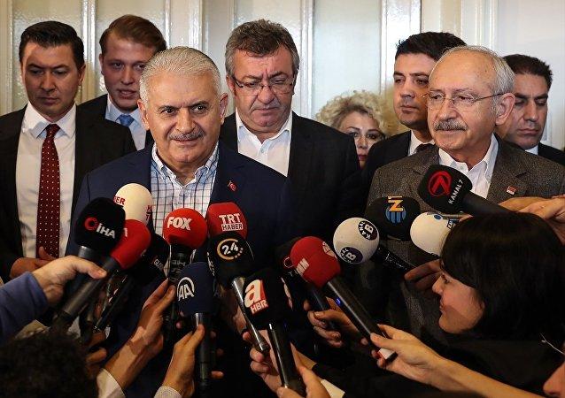 TBMM Başkanı Binali Yıldırım- CHP Genel Başkanı Kemal Kılıçdaroğlu