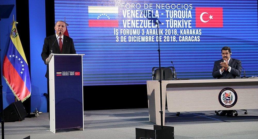 Cumhurbaşkanı Recep Tayyip Erdoğan-Venezüella Devlet Başkanı Nicolas Maduro