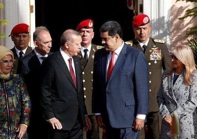 Cumhurbaşkanı Recep Tayyip Erdoğan ve Venezüella Devlet Başkanı Nicolas Maduro