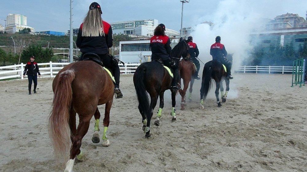 Atlı polisler