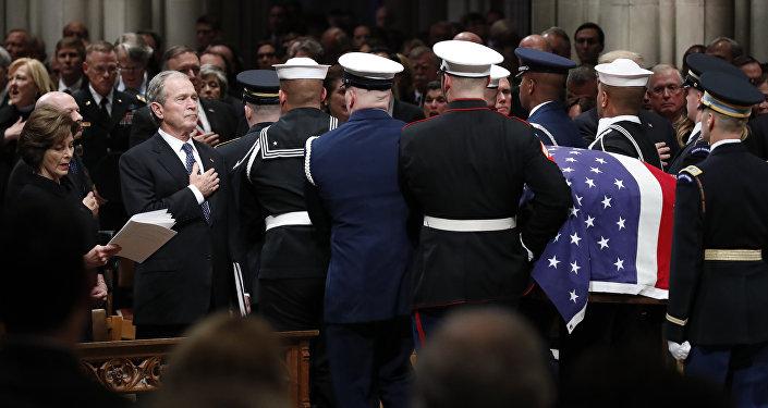 George W. Bush-George H. W. Bush'un cenazesi