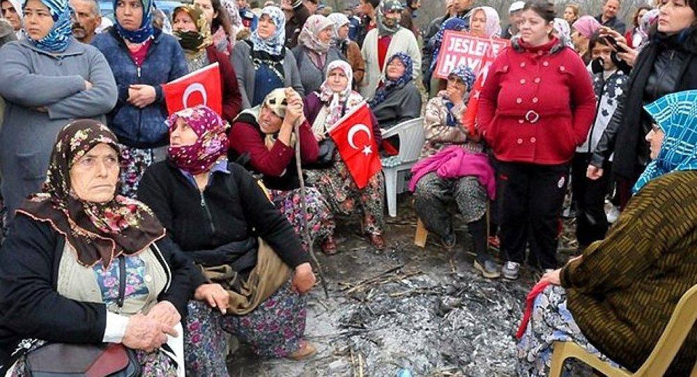 Aydın'da jeotermal santraline köylüler karşı çıktı