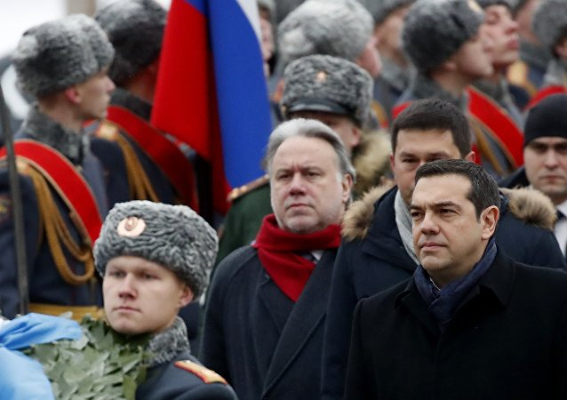 Yunanistan Başbakanı Aleksis Çipras- Moskova