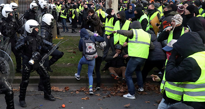 Brüksel'de Sarı Yelekliler