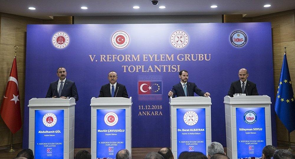 5. Reform Eylem Grubu (REG) Toplantısı - Berat Albayrak, Abdulhamit Gül, Süleyman Soylu, Mevlüt Çavuşoğlu