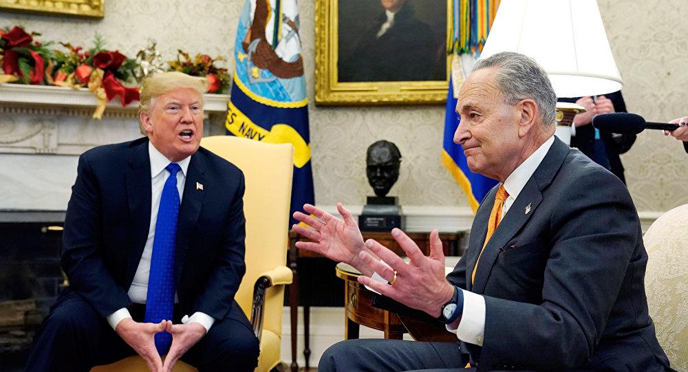 ABD Başkanı Donald Trump-Senatör Chuck Schumer