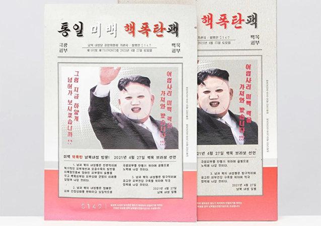 Güney Koreli kozmetik firması 5149 tarafından piyasaya sürülen 'Kim Jong-un güzellik maskesi'