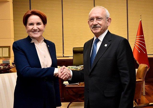 İYİ Parti Genel Başkanı Meral Akşener-CHP Genel Başkanı Kemal Kılıçdaroğlu