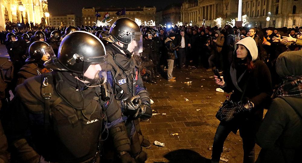 Budapeşte protesto