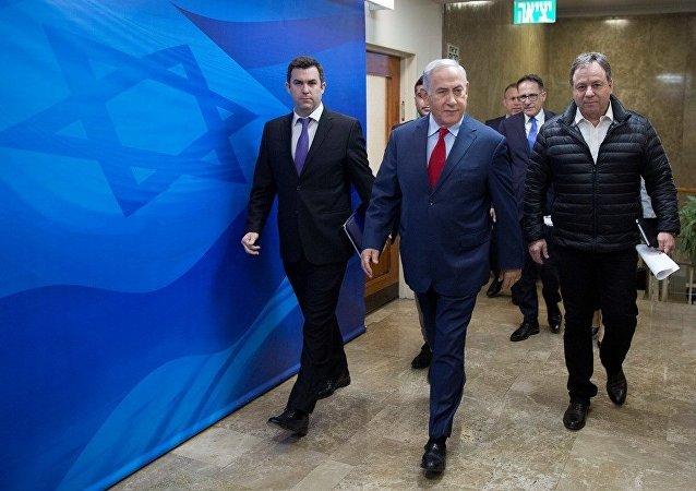 İsrail Başbakanı Benyamin Netanyahu ile Uluslararası Basın sözcüsü David Keyes