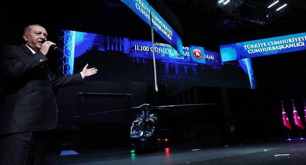 Türkiye Cumhurbaşkanı Recep Tayyip Erdoğan, Beştepe Millet Kongre ve Kültür Merkezi'nde gerçekleştirilen İkinci 100 Günlük Eylem Planı Tanıtım Toplantısına katılarak konuşma yaptı.