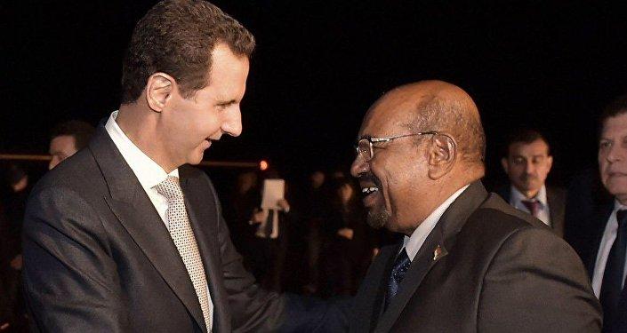 Sudan Cumhurbaşkanı Ömer el-Beşir ile Suriye Devlet Başkanı Beşar Esad
