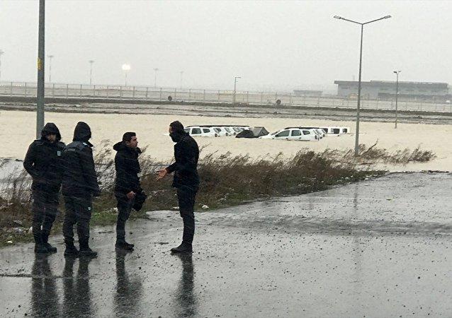 İstanbul Havalimanı, şiddetli yağış