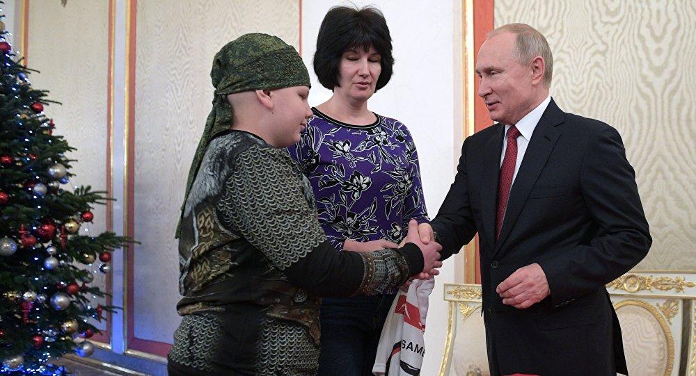 Putin bir çocuğun hayalini daha gerçekleştirdi