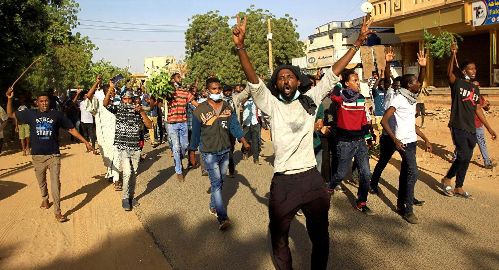Sudan'da protesto