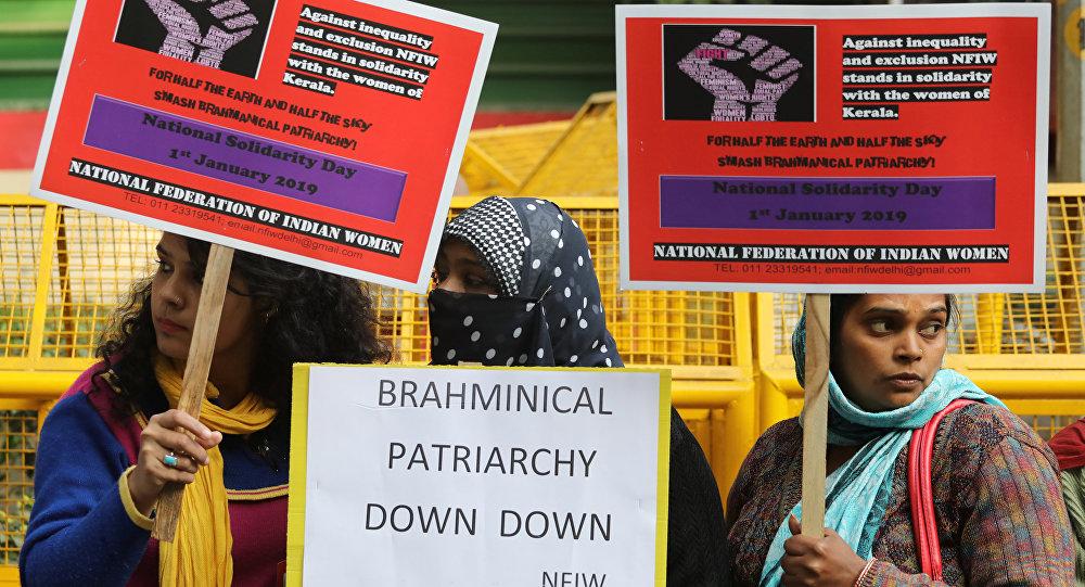 Hindistan'da kadınlardan cinsiyet eşitliği için 620 km'lik insan zinciri