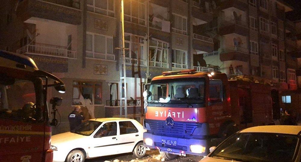 Ankara'da bir binada doğalgaz patlaması: 5 yaralı