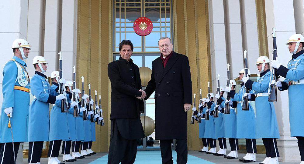 Türkiye Cumhurbaşkanı Recep Tayyip Erdoğan ve Pakistan Başbakanı İmran Han
