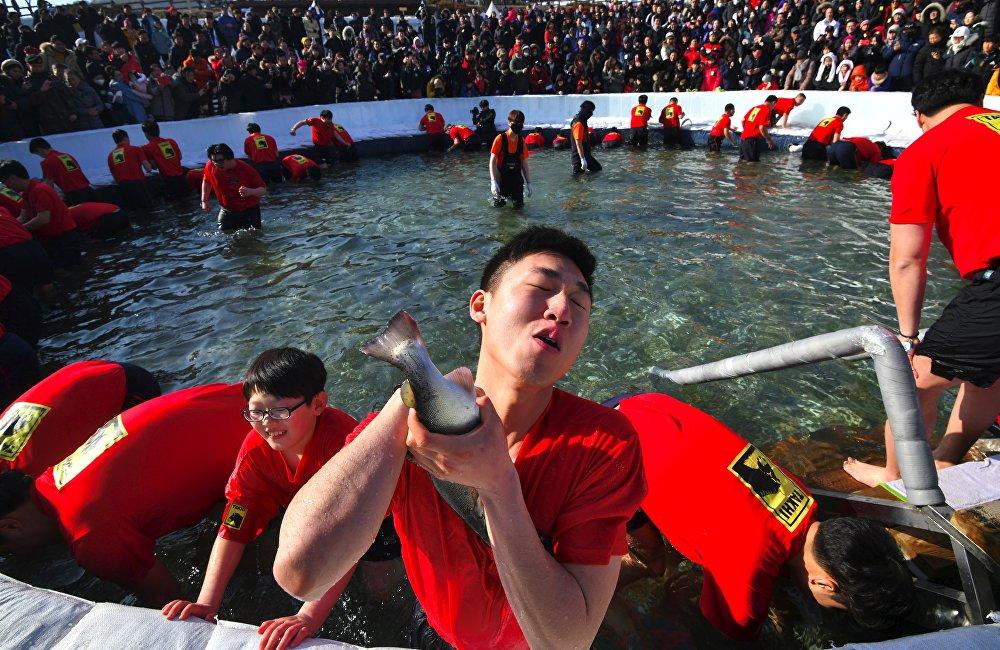 Güney Kore'de düzenlenen Sancheoneo Festivali