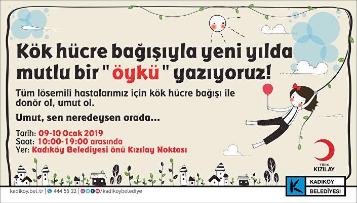 Kadıköy belediyesi ve Kızılay'dan ilik nakli kampanyası