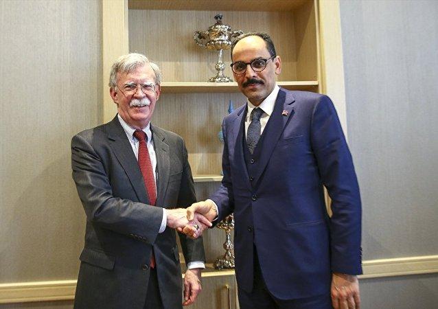 Cumhurbaşkanlığı Sözcüsü İbrahim Kalın- Beyaz Saray Ulusal Güvenlik Danışmanı John Bolton