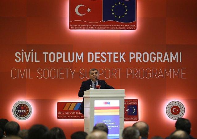 Dışişleri Bakanlığı Avrupa Birliği (AB) Başkanlığının faydalanıcısı olduğu, AB Katılım Öncesi Yardım Aracının (IPA) sivil toplum sektörü bileşeni altında desteklenen Sivil Toplum Destek Programının açılışı programı Ankara'da bir otelde yapıldı. Programda, Dışişleri Bakan Yardımcısı ve AB Başkanı Faruk Kaymakcı, konuşma yaptı.