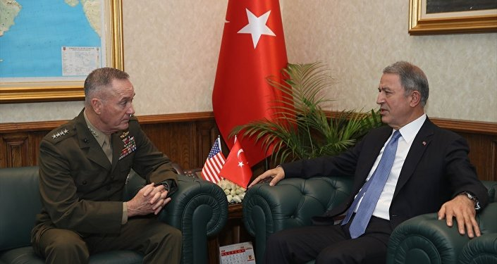 ABD Genelkurmay Başkanı Orgeneral Joseph Dunford-Milli Savunma Bakanı Hulusi Akar