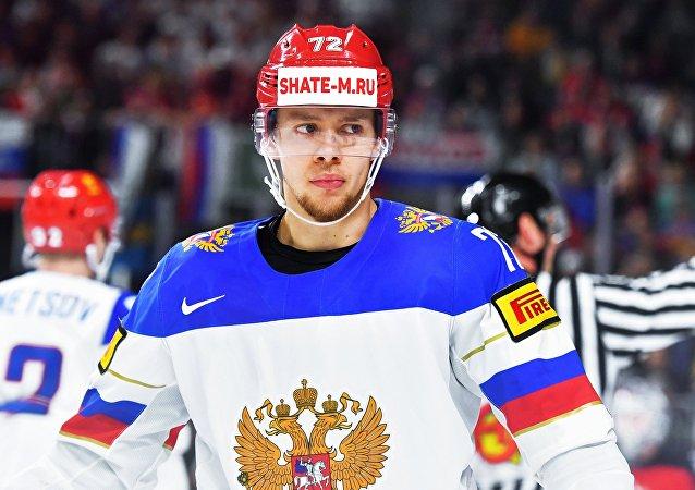 Rusya Milli Takımı ve Columbus Blue Jackets formaların giyen buz hokeyi oyuncusu Artemiy Panarin