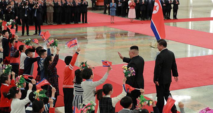 Kuzey Kore lideri Kim Jong-un- Çin lideri Şi Cinping