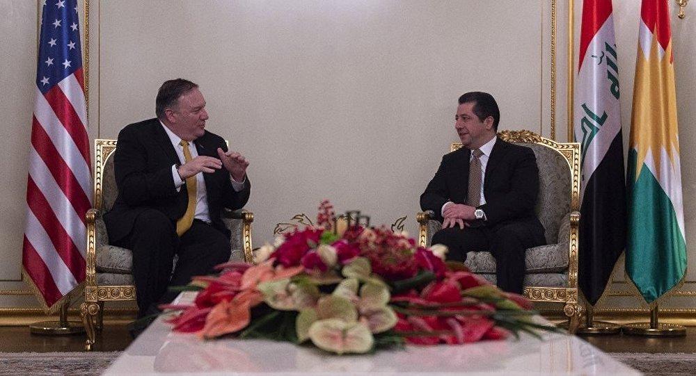 ABD Dışişleri Bakanı Mike Pompeo ve IKBY Güvenlik Ajansı Müsteşarı Mesrur Barzani